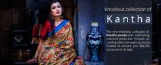 #Kantha is the #embroidery #style from the regions of West Bengal, which is widely used to pattern sarees as well as other garments. #Shatika online #handloom #sarees store offering wide range of Kantha embroidery sarees design & pattern. Buy kantha cotton sarees online at affordable price.