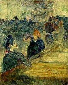 Au bal du Moulin de la Galette   -   Henri de Toulouse-Lautrec 1889  French   1864-1901 1889   oil on panel 16¼ x 12 7/8 in.