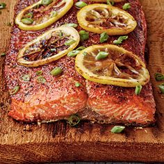 This simple brown sugar glazed cedar planked salmon recipe is a favorite here at Wildwood Grilling Outlet. This recipe explains how to grill cedar planked salmon. Best Salmon Recipe, Salmon Recipes, Fish Recipes, Seafood Recipes, Cooking Recipes, Healthy Recipes, Recipies, Eat Healthy, Cooking Ideas