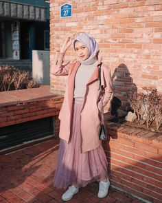 trend hijab casual muslimah - my ely Muslim Fashion, Modest Fashion, Trendy Fashion, Korean Fashion, Fashion Outfits, Womens Fashion, Style Fashion, Hijab Casual, Hijab Chic