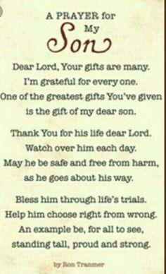 prayer, prayer for son, inspiration Prayer For My Son, Prayer For My Children, Quotes Children, Prayer Quotes, Bible Quotes, Qoutes, My Son Quotes, Mother Quotes, I Love My Son