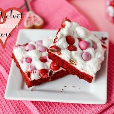 Red Velvet Marshmallow Bars by Confessions of a Cookbook Queen