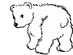 Cute Polar Bear Coloring Page