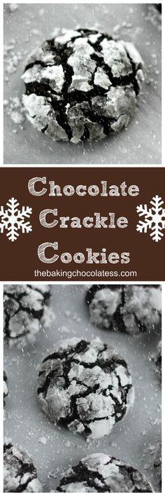 Christmas Chocolate Crackle Cookies via @https://www.pinterest.com/BaknChocolaTess/
