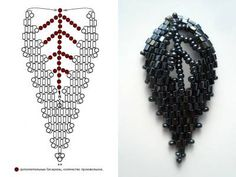 RUSSIAN LEAF bead weaving diagram, nicely laid out in steps.