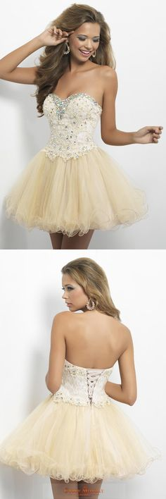 Lovely Homecoming Dresses A Line Sweetheart Short Mini Color Champagne Item Code: #CMDPX98CF2P