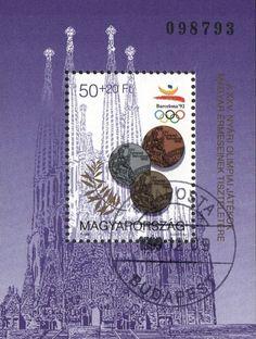 #B349 Hungary - 1992 Summer Olympics, Barcelona S/S (Used)