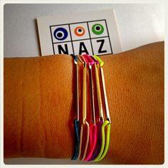 SoChic Naz Collection by Harika Ozkaya Gold or Silver Plated Rhodium Stick Neon Bracelet. $18.00, via Etsy.