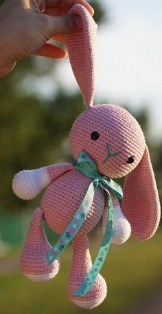 Вязание зайца амигуруми