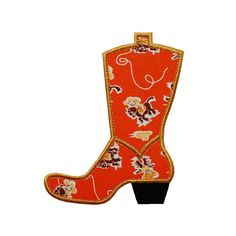 """Cowboy Boot Machine Embroidery Designs Applique Patterns in 4 sizes 3"""", 4"""", 5"""" and 6"""""""