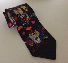 looney tunes 100 silk necktie bugs bunny daffy duck foghorn leghorn novelty ties neckties pinterest looney tunes