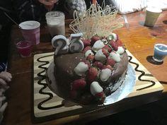 Chocolate mud glaze birthday 23rd strawberry