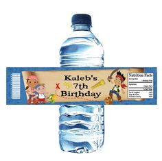 jake and the neverland pirates party | Jake and the Neverland Pirates Water Bottle Wrappers : Birthday Party ...