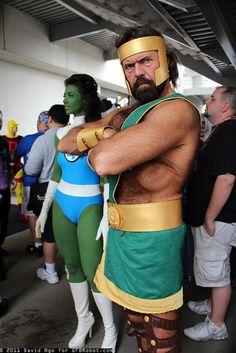 She-Hulk with Hercules