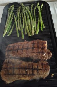 I love  making streak on my Lodge Cast Iron Griddle using my #nickelfree marinade, get it yourself at http://nickelfoodallergy.com/nickel-free-steak-recipe/ #nickelfoodallergies #nickelallergy
