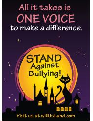 Download an anti-bullying themed halloween card to include in your treat bags.  FREE at http://www.willustand.com/resources.php