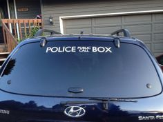 """24"""" Doctor Who Inspired TARDIS Decal for your (blue) car"""