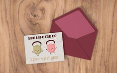 Funny Valentine Card - You Lift Me Up - Instant #instantdownload #print #digitalfile #printableart #valentine'sday #valentine'scard #friendshipday #happyvalentin's #funny #love #crossfit #kettlebell #youliftmeup