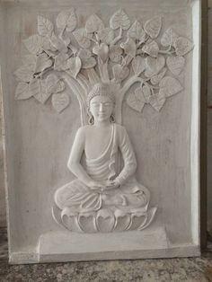 best home decor Clay Wall Art, Mural Wall Art, Clay Art, Buddha Wall Art, Buddha Painting, Buddha Sculpture, Wall Sculptures, Sculpture Painting, Mural Painting