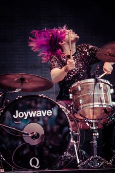 Joywave drummer at Red Rocks #concert #music #drummer