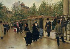 La sortie de La Madeleine - Jean Beraud