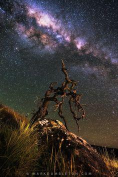 Burning Milky Way by Mark Dumbleton on 500px