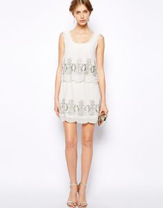 ASOS: Frock and Frill Double Tiered Dress with Sequin Embellishment