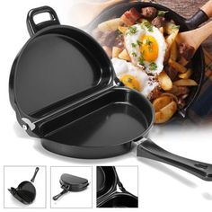 Nonstick Omelet Pan Kitchen Breakfast Skillet Egg Frying Maker Portable Outdoor Cooking Equipment by AdvancedShop Egg Skillet, Breakfast Skillet, Skillet Kitchen, Breakfast Cooking, Cooking Equipment, Cooking Tools, Cooking Games, Barbados, Sierra Leone