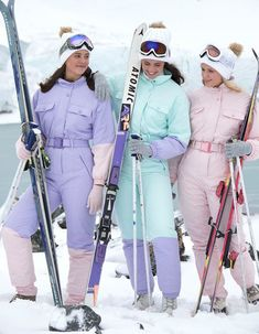 snowroller suits purple teal and pink (skisuitguy) Tags: skisuit snowsuit ski snow suit skiing skifashion skiwear skibunny onepieceskisuit onepiecesuit onesie skidress skianzug Winter Suit, Winter Wear, Skii Outfit, Mode Au Ski, Teal And Pink, Ski Fashion, Snow Suit, Skiing, Snowboarding