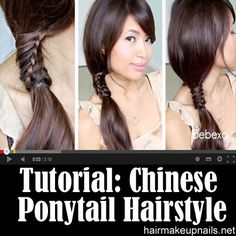 Chinese Staircase Stitch Ponytail