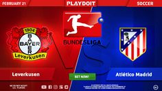 Nice Tuesday for you all! Be a Playdoit winner betting on Bayer Leverkussen vs Club Atlético de Madrid match! ⚽Register now and get great bonuses! 😎👍