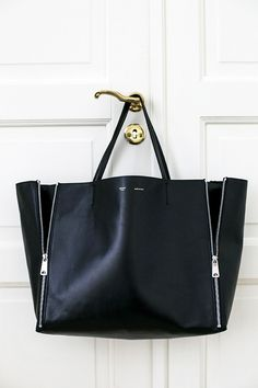 Simple black tote
