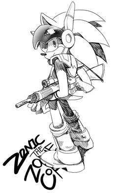 Sniper Zonic by lujji on DeviantArt