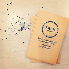 FRSH Studio + logo + business cards + branding + identity + seed pack + stamp