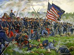 Choose your favorite american civil war battle paintings from millions of available designs. All american civil war battle paintings ship within 48 hours and include a money-back guarantee. Military Art, Military History, Military Veterans, American Civil War, American History, American Soldiers, Battle Of Antietam, Civil War Art, John Bell