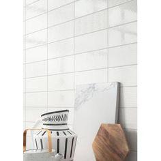 Berkeley x Ceramic Concrete Look Wall & Floor Tile Marble Subway Tiles, Ceramic Wall Tiles, Glass Mosaic Tiles, Mosaic Wall, Carrara, Fireplace Facade, Buy Tile, Shower Surround, Wood Look Tile