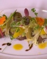 , Endive And Strawberry Salad With Gravlax And A Blood Orange ...
