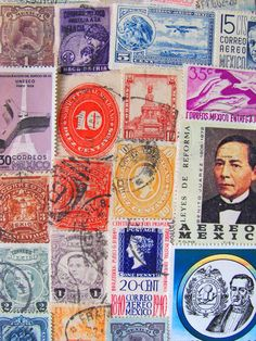 Mexican stamps-stunning, would look amazing framed!