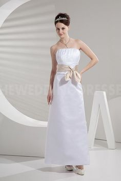 Strapless Romantic Bridesmaids Dress - Order Link: http://www.theweddingdresses.com/strapless-romantic-bridesmaids-dress-twdn5349.html - Embellishments: Sash; Length: Floor Length; Fabric: Satin; Waist: Natural - Price: 90.615USD