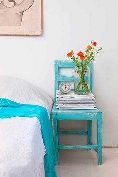 blue chair!