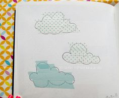 Clouds + washi tape. Via hellocutepanda's great washi tape board.