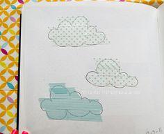 Clouds + washi tape