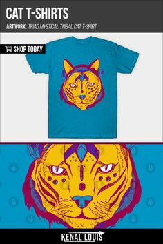 Cat Graphic Tee - Cat Shirts  | Beautiful and creative graphic tees collection. Unique graphic t-shirts created by Kenal Louis. Kenal Louis T-Shirts. Custom T-shirts by Artist Kenal Louis. Prices starting at $20. Follow Kenal Louis On Teepublic to know when shirts are on sale for $13 - $15. #graphictshirts #tshirts #graphictees #tees #tshirt Heart Illustration, Digital Illustration, Life Magazine, Heart Awareness Month, Blog Art, Mystery, Sell My Art, Cool Graphic Tees, Branding