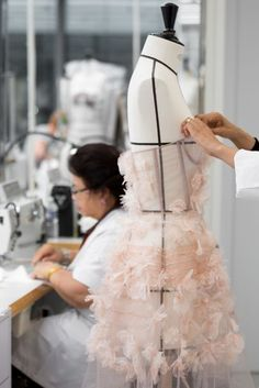 Before they found life on the catwalk, Miss Vogue went #BTS at the Christian Dior atelier