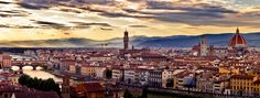 Florence, Italy - view from Plaza Michangelo - Visited 2012