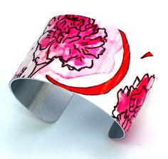 The lovely Gamma Phi Beta cuff bracelet by Greek Zebra - www.GreekZebra.com