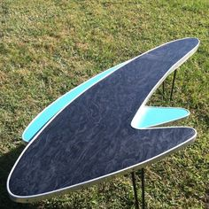 Midcentury Atomic Boomerang Coffee Cocktail Table With Hair-pin Legs. in Home & Garden, Furniture, Tables Mid Century Modern Decor, Mid Century Modern Furniture, Midcentury Modern, Mid Century House, Mid Century Style, Mid Century Design, Mod Furniture, Vintage Furniture, Furniture Ideas