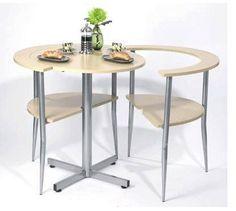 Siguiendo con los muebles para espacios reducidos me ha encantado esta mesa de venta en Amazon UK llamada Lovers' Breakfast Table (la verdad ...