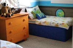 Cool Toddler Beds For Boys Home Design Ideas Cool Toddler Beds, Toddler Rooms, Kids Rooms, Corner Reading Nooks, Diy Superhero Costume, Boys Home, Diy Bed, Cool Diy, My Room
