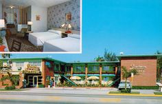 Sandman Motel - Miami, Florida -- The wallpaper, carpet, and curtains: they could not have found three patterns that matched less.